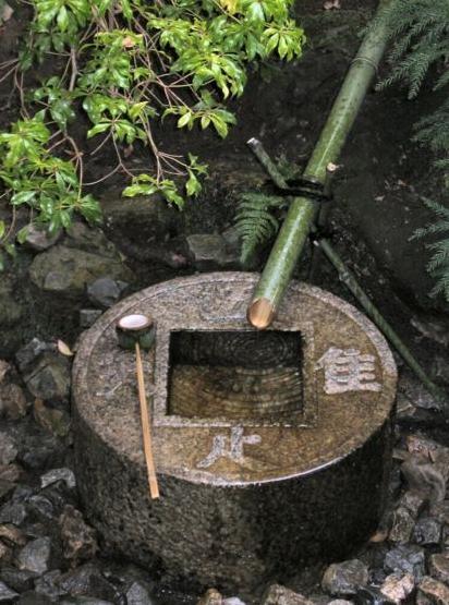 Ryoanji-Temple Tsukubai ware tada taru shiru