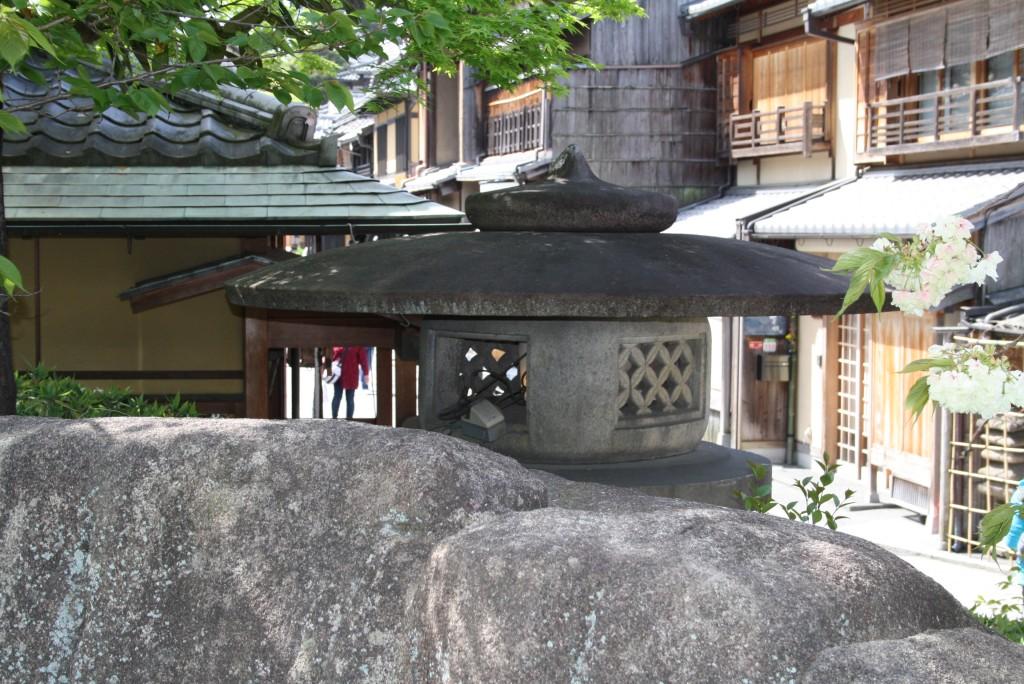 Kyoto Kodai Maru Yukimi Steinlaterne