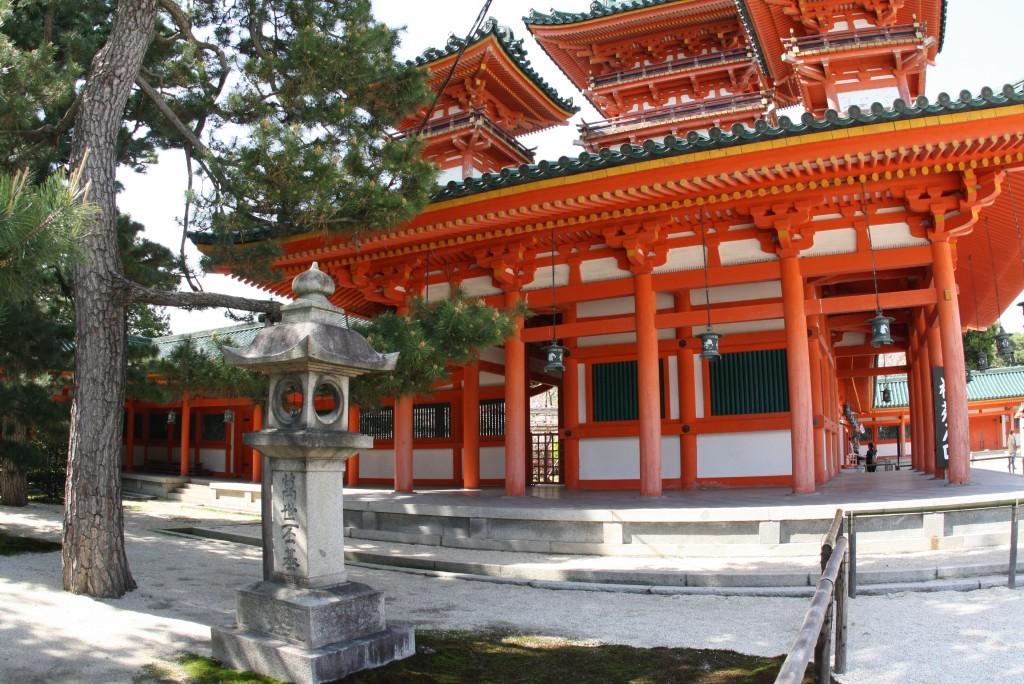 Kyoto Heian-Jingu Steinlaternen