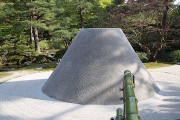 Kyoto Ginkaku-Ji silberner Pavillon Steingarten
