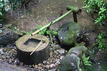 Kyoto Ryoanji Tsukubai Wasserbecken