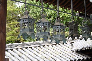 Nara Todaiji Nigatsudo Yukimi Metalllaternen
