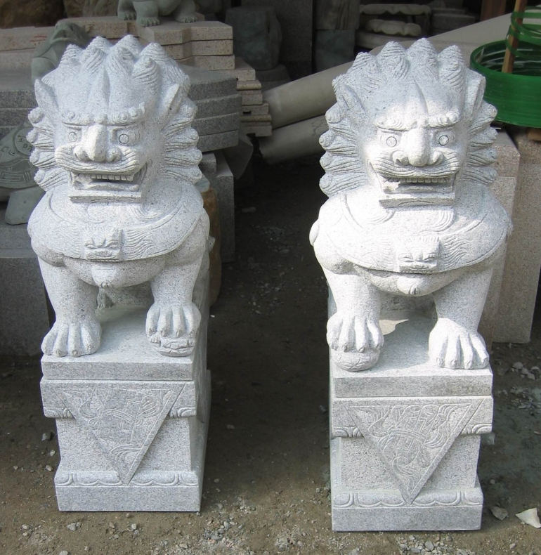 Lion Chinese guardian lions temple dogs